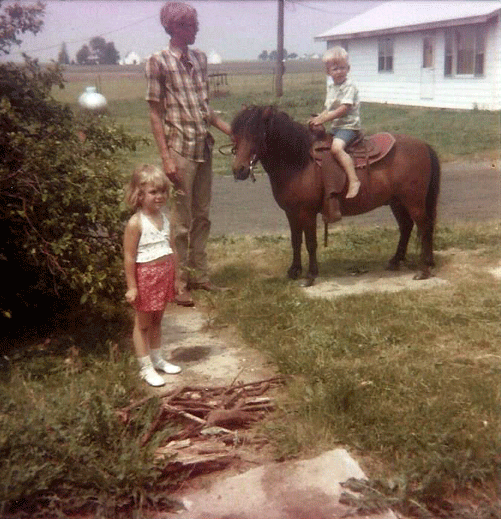 Darren Woller Horseback Riding Age 4